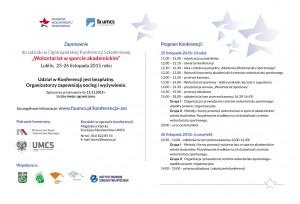 Zaproszenie na konferencję - Wolontariat w sporcie akademickim